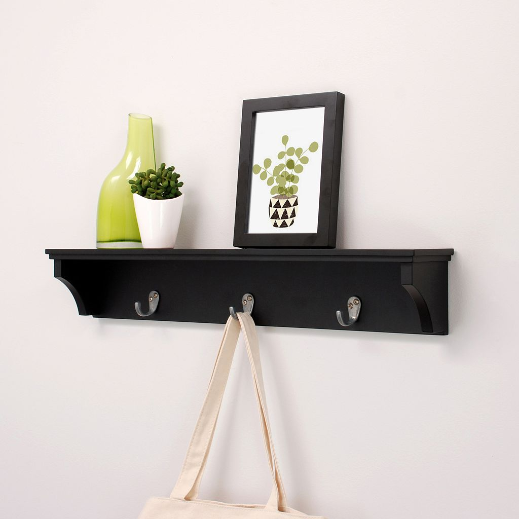 Nexxt Finley 3-Hook Wall Shelf