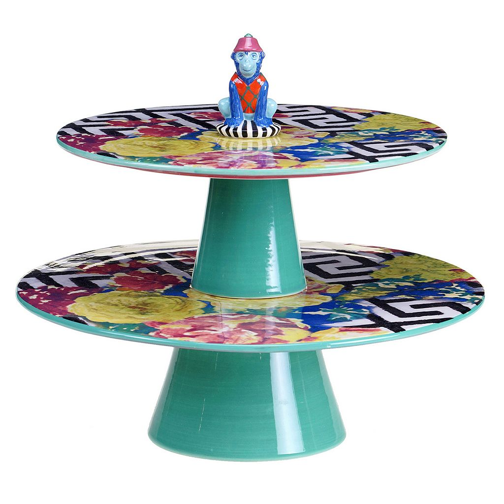 Tracy Porter Reverie 3D Monkey 2-Tier Server Platter
