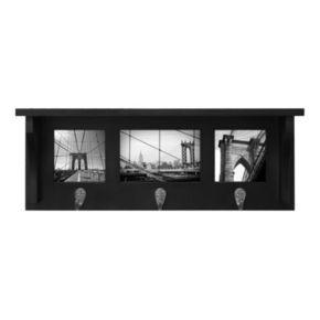 Nexxt Riley 3-Hook Photo Wall Shelf