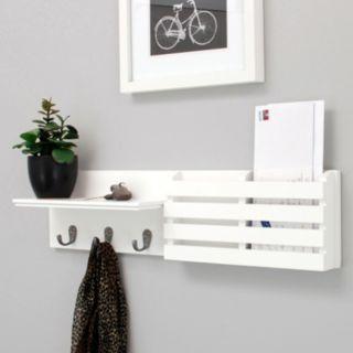 Nexxt Sydney Mail Holder 3-Hook Wall Shelf