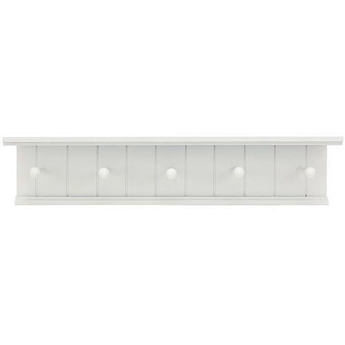 Nexxt Kian 5-Hook Wall Shelf