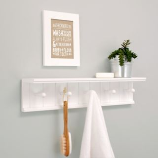 Nexxt Kian 5-Hook Wall Shelf