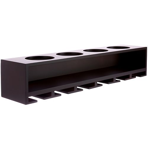 Nexxt Claret Wine Bottle & Glass Holder Wall Shelf