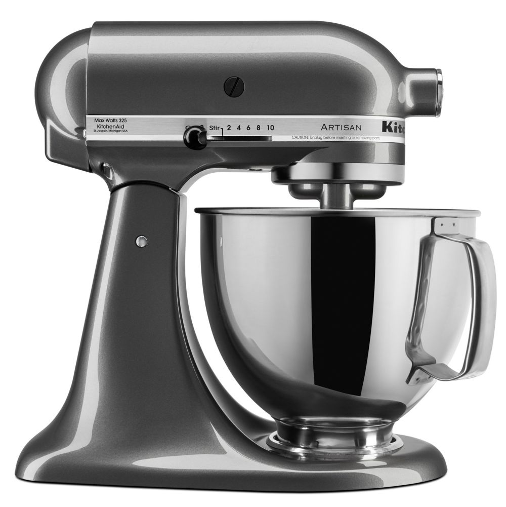 White Kitchenaid ksm150ps artisan 5-qt. stand mixer