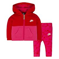 Baby Girl Nike Fleece Hoodie & Pants Set