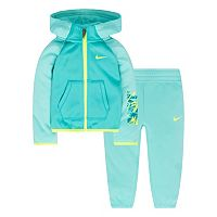 Baby Girl Nike Therma-FIT Fleece Hoodie & Pants Set