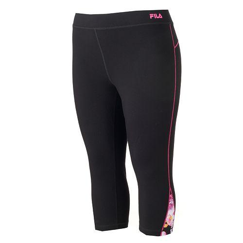 4abf6c064782c Plus Size FILA SPORT® Colorblock Active Capri Yoga Leggings