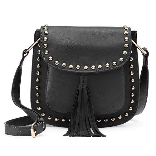 Yoki Studded Tassel Crossbody Bag