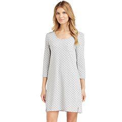 Women's Cuddl Duds Pajamas: Essentials Sleep Shirt
