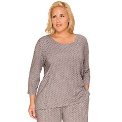 Plus Size Cuddl Duds Pajamas: Essentials Pajama Top