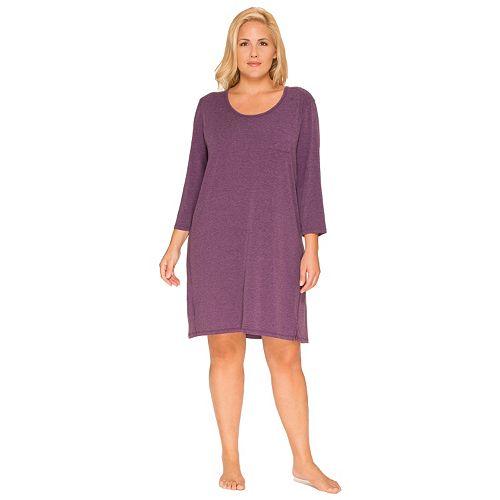 Plus Size Cuddl Duds Pajamas: Essentials Sleep Shirt