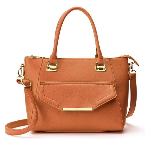 Yoki Textured Convertible Satchel