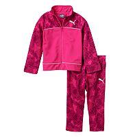 Girls 4-6x PUMA Dotted Jacket & Pants Set