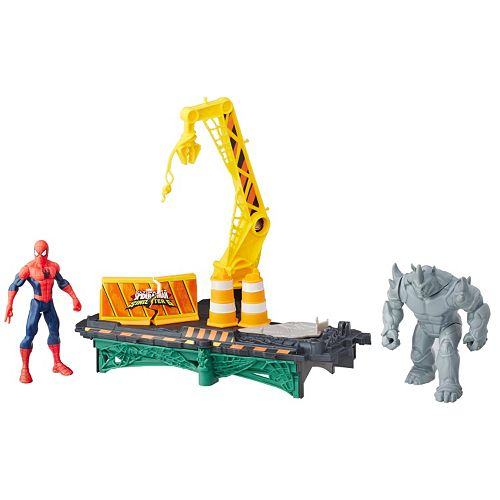 Marvel Spider-Man Rhino Rampage Play Set by Hasbro