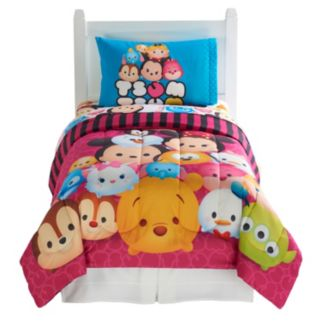 Disney's Tsum Tsum 4-piece Reversible Twin Comforter Set