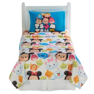 Disney's Tsum Tsum 4-piece Reversible Twin Comforter Set
