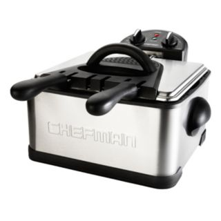Chefman 4-Liter Dual Basket Stainless Steel Deep Fryer