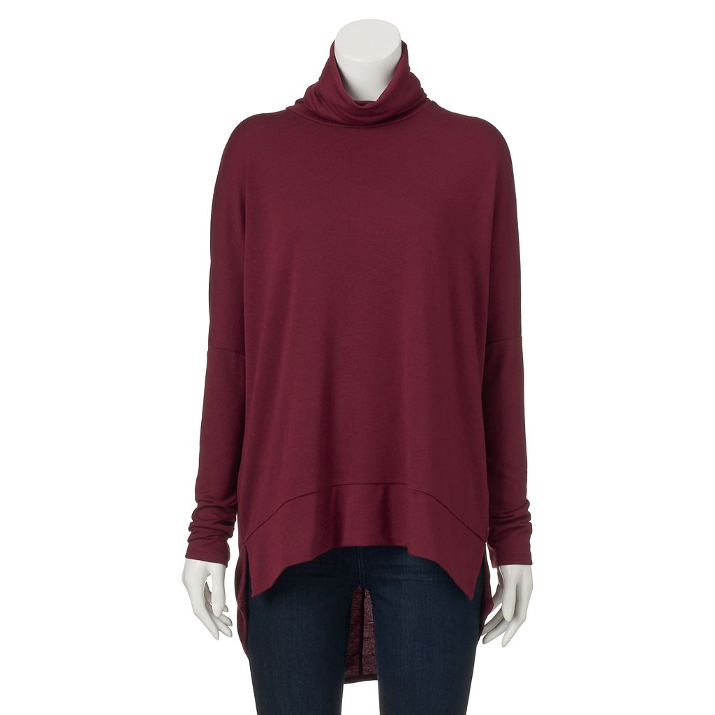 Juniors' Ransom Drop-Shoulder Turtleneck