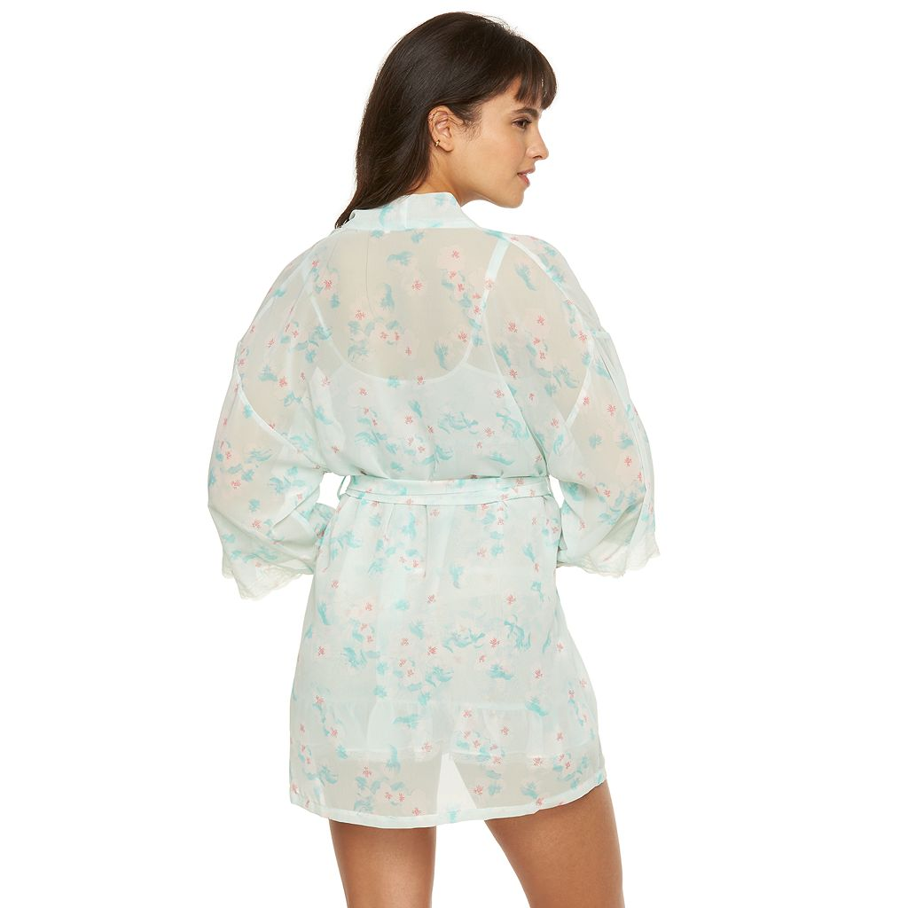 Women's Flora by Flora Nikrooz Imagine Chiffon Kimono Robe