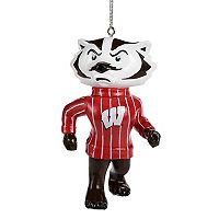 Forever Collectibles Wisconsin Badgers Bucky Badger Christmas Ornament