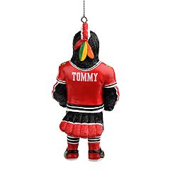 Forever Collectibles Chicago Blackhawks Tommy Hawk Christmas Ornament
