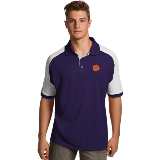 Men's Antigua Clemson Tigers Century Polo