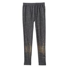 Girls 7-12 SO® Smooth Fleece-Lined Seamless Leggings