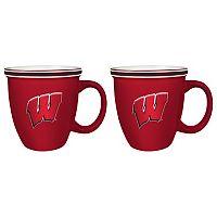 Boelter Wisconsin Badgers Bistro Mug Set
