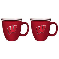 Boelter Wisconsin Badgers Bistro Mug Set