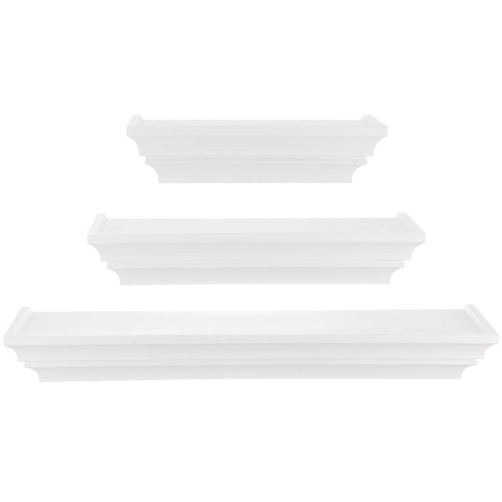 Nexxt Madison Contoured Wall Shelf 3-piece Set