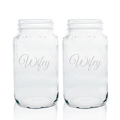 Cathy's Concepts 2-pc. Couples Mason Jar Glass Set