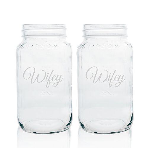 Cathy's Concepts 2-pc. Couples Mason Jar Glass Set