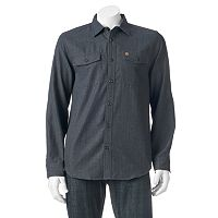 Men's Coleman Patterned Flannel Button-Down Shirt