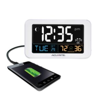 AcuRite Digital Alarm Clock with USB Charger (13040)