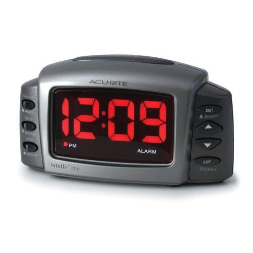 AcuRite Intelli-Time LED Digital Alarm Clock (13030A2)
