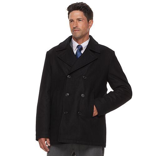4a11df245f4 Men s Chaps Wool-Blend Peacoat