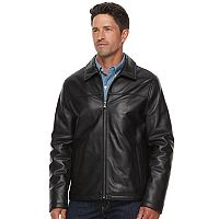 Men's Chaps Lambskin Leather Motorcycle Jacket