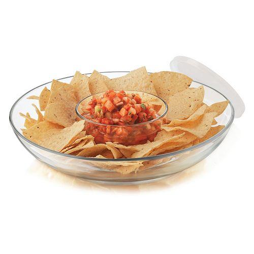 Food Network™ Glass Chip 'N Dip Set