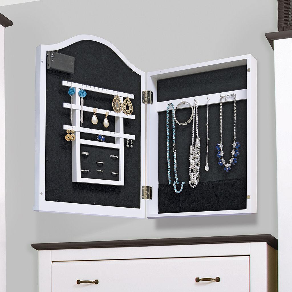 New View Marquee Mirror Tabletop Jewelry Armoire - View Marquee Mirror Tabletop Jewelry Armoire