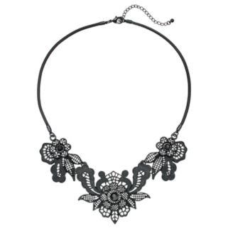 Openwork Flower Statement Necklace