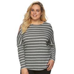 Plus Size Apt. 9® Open Shoulder Shirt