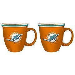Boelter Miami Dolphins Bistro Mug Set