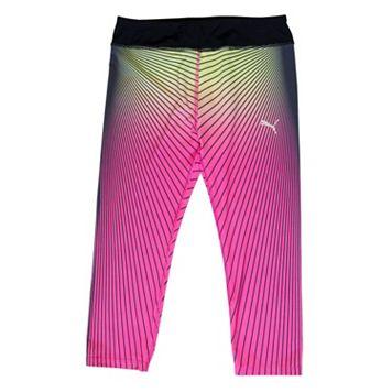 Girls 4-6x PUMA Faded Striped Capri Leggings