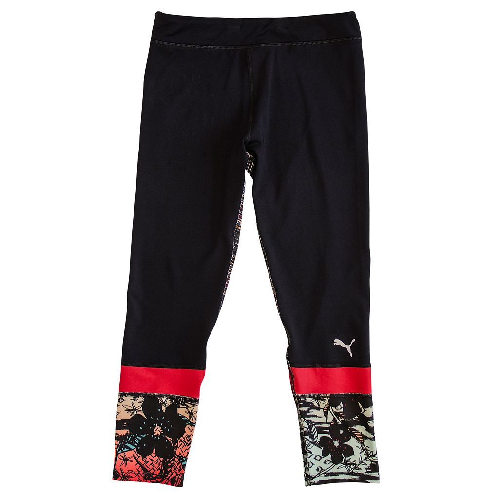 Girls 4-6x PUMA Floral Cropped Leggings