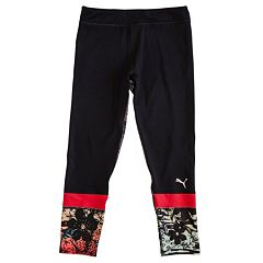 Girls 4-6x PUMA Floral Cropped Leggings