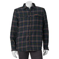 Men's Field & Stream Classic-Fit Plaid Sherpa-Lined Button-Down Shirt