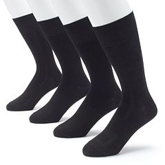 Men's Croft & Barrow® 4-pack Opticool Textured Dress Crew Socks