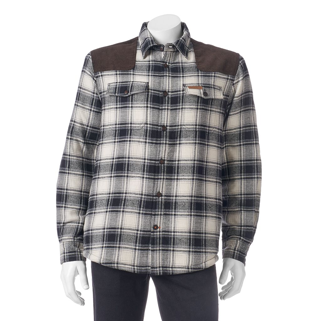 Men's Field & Stream Classic-Fit Plaid Sherpa-Lined Shirt Jacket