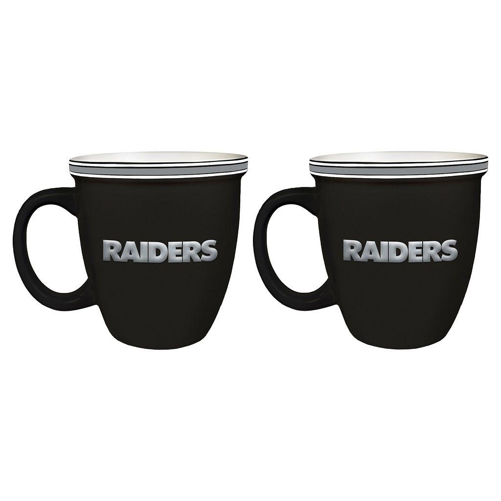 Boelter Oakland Raiders Bistro Mug Set