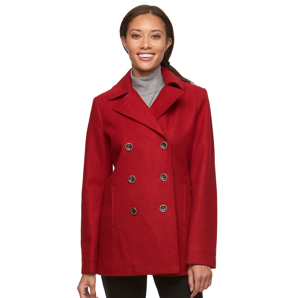 Women's Braetan Hooded Double-Breasted Peacoat